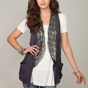 Free People Boho Sequin Vest Small